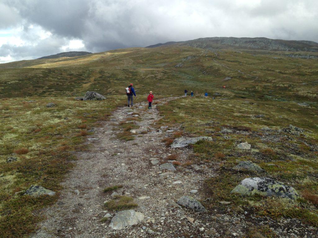 På vei opp på fjellet
