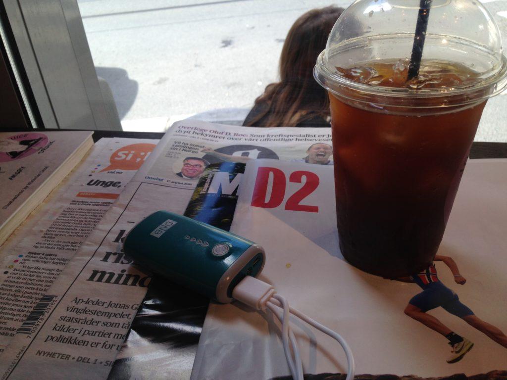 Kaffe og lader