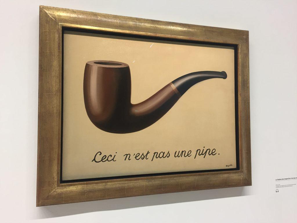 """Her er orginalen """"dette er ingen pipe"""""""