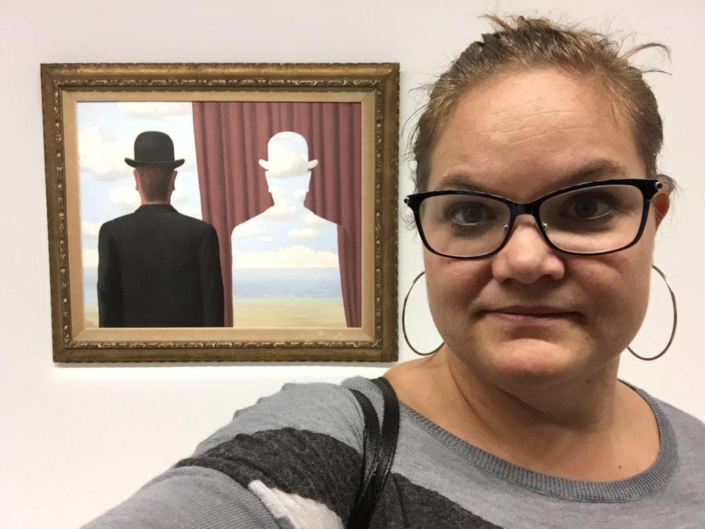 Det var spesialutstilling med Magritte